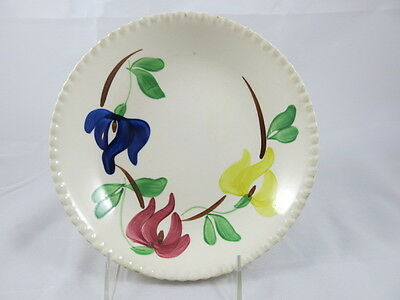 Blue Ridge Southern Potteries soup bowl red blue yellow flowers