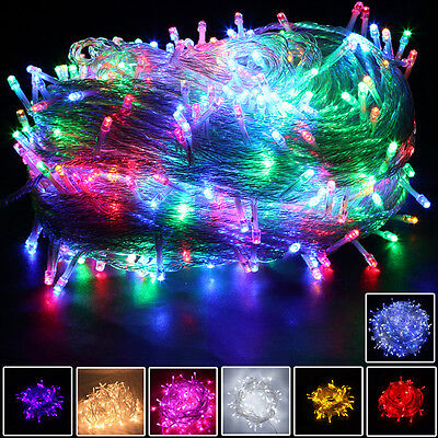 8 Multi-Action 300/400 LED Xmas Christmas Tree Fairy String Lights Party Wedding