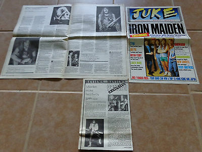 Iron Maiden_MAGAZINE ARTICLE CLIPPINGS CUTTINGS_ships from Australia!