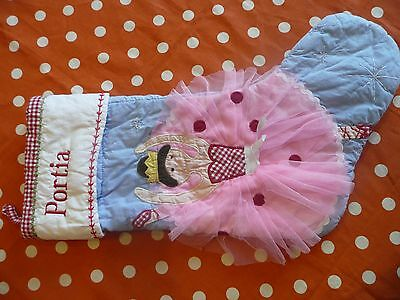 Pottery Barn Ballerina Stocking defect  Portia Avary Tatum Berkeley