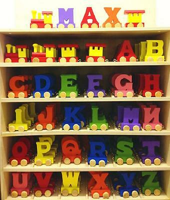 Color Wooden Name Train Letters Personalised Name Train as Children Baby Gift