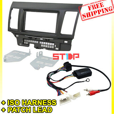Mitsubishi Lancer Fascia Kit + Steering Wheel Control Harness +Iso Wiring +Patch
