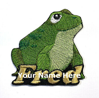 Iron-on Frog / Toad Patch With Name Personalized Free