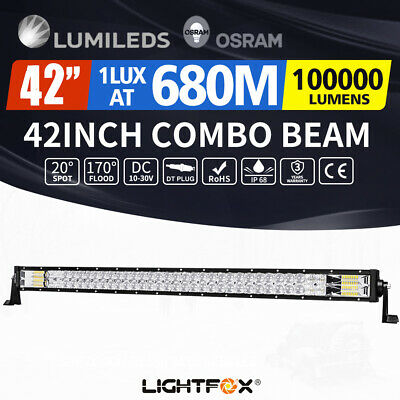 42inch 5D Osram Philips LED Light Bar Spot Flood Offroad Driving Lamp 4WD 4x4