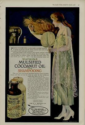 1918 Mulsified Shampoo Ad / Artists: Coles Phillips - Sensational Artwork!!!