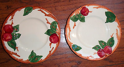 "Franciscan Apple Bread & Butter Plates 6 1/4"" Set of Two California USA"