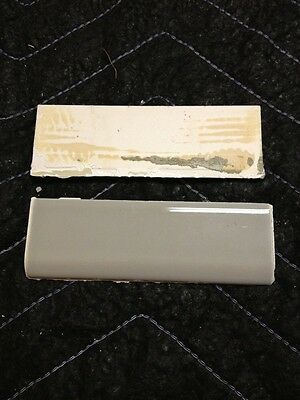 1pc 1950S Retro Gray Bathroom 6 X 2 Wall Tile Cove Curved Bullnose Reclaimed