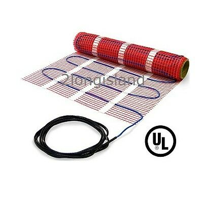 In Floor Warming Heating Mat (120V) Underfloor Electric Heat System. UL Listed
