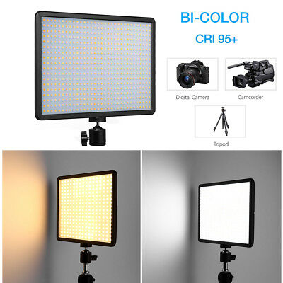 576 LED Video Light Panel Bi-Color Dimmable Studio DSLR Camera Video Lamp 42W US