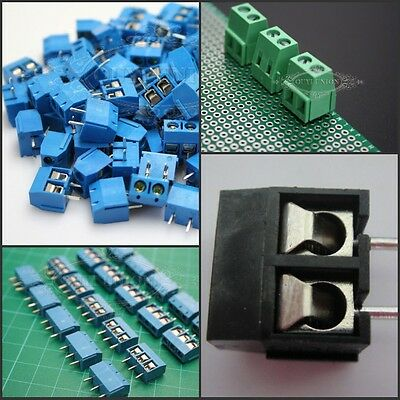 5-100PCS Plug-in Screw Terminal Block Connector 5.08MM Pitch Panel PCB Mount 10A