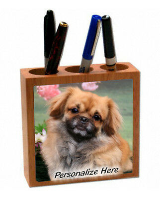 Tibetan  Spaniel   # 33  Personalized  Pencil and Pen Holder