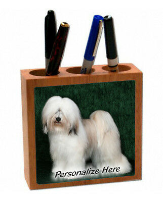Tibetan Terrier   # 2  Personalized  Pencil and Pen Holder