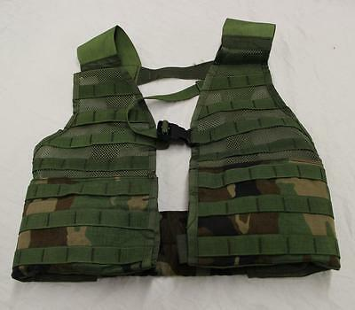 MOLLE II US ARMY WOODLAND CAMO LOAD CARRIER VEST LBV BELT MILITARY SURPLUS NEW