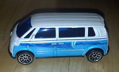 New Loose White & Blue Matchbox Volkswagen Microbus VW Van 5 Pack Only