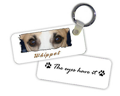 Whippet  # 2   The  Eyes Have It   Key  Chain