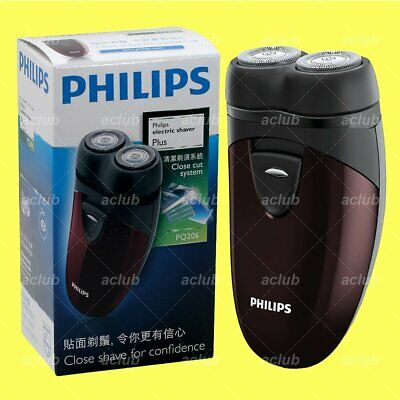 Philips PQ206 2-Head Close Cut Electric Men Shaver Travel Clean Razor AA Powered