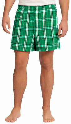 District Shorts DT1801 Young Men Flannel Plaid Boxer New