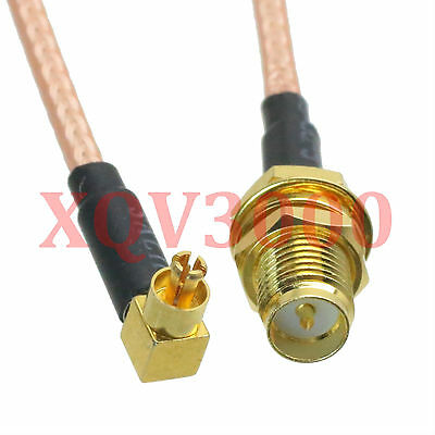 USA-CA RG316 DS RP-SMA FEMALE to MC CARD MALE ANGLE Coaxial RF Pigtail Cable