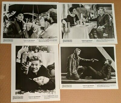 YEAR OF THE DRAGON Lot of 4 Original Movie Photos + Poster MICKEY ROURKE 1985