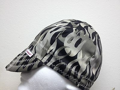 NWT Comeaux Caps Welding Welders Hats Pipe Fitter Black & Gray Flames