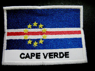 REPUBLIC OF CAPE VERDE CAPE VERDEAN NATIONAL FLAG Sew on Patch Free Shipping