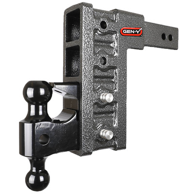 "GenY 624 ClassV,2-1/2"" Shank Dual 4-Receiver Drop Hitch,Multi Use,Pintle,21000lb"