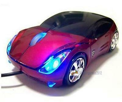 800DPI Optical Cool Red Car Shape USB 2.0 3D Optical Mouse Mice For PC Laptop LN