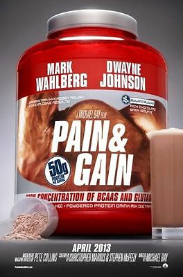 PAIN & GAIN -2013- Orig 27x40 D/S movie poster -Style B- MARK WAHLBERG, THE ROCK