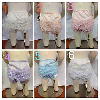 NEW Baby Girl & Toddler Ruffle Underwear/Panties/Christening/Baptism/Size 1-6