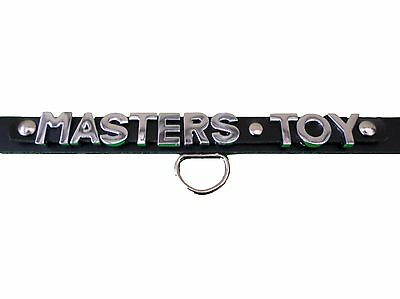 masters toy collar and leash, fetish,bondage,real leather 15-18 inch
