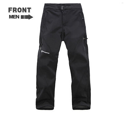 New Men Soft Shell Waterproof Outdoor Pants Men Hiking Camping Ski Snow Trousers