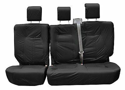 Land Rover Discovery 4 2nd Row Inka Tailored Waterproof Seat Covers Black 09-16