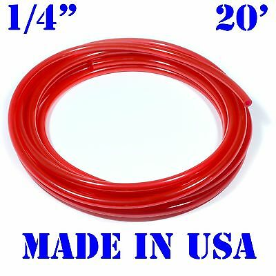 "20 Feet of RED 1/4""(6mm) id Fast Flow Fuel Line Cycle/Jetski/ATV/Kart/Snowmobile"