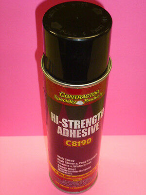 CONRACTOR SPECIALTY PRODUCTS HI-STRENGTH SPRAY ADHESIVE #C8190, 12-oz.