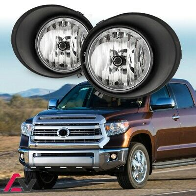 07-13 For Toyota Tundra Clear Lens Pair OE Fog Light Lamp+Wiring+Switch Full Kit