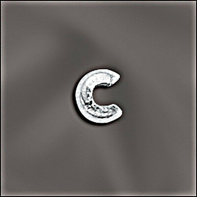 Sterling Silver 4mm Crimp Bead Covers. Packs of 20pc,50pc,or 100pcs, Wholesale