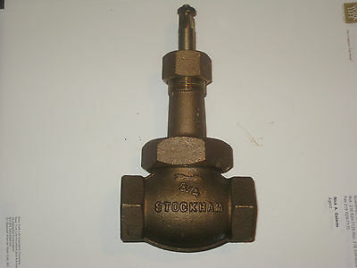 "STOCKHAM 37-4 BRASS GATE VALVE 3/4"" 300S 600 OWG  tag# 219)"