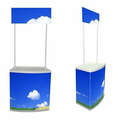 Linno® POP UP display Promotion Counter Kiosk Banner Stand Portable Counters