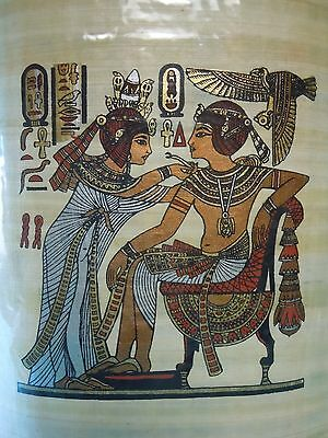 Egyptian Authentic Papyrus from Giza- King Tut Ankh Amun & his wife