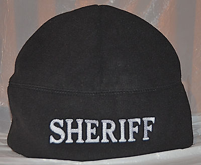 Fleece Beanies With Embroidered Text.. Choose Color/text