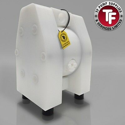 "1/2"" Dellmeco Air Diaphragm Pump–Solid PTFE Body-PTFE Seals"