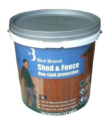 Bird Brand Shed and Fence One Coat Protection Paint | Forest Green | 20 Litres