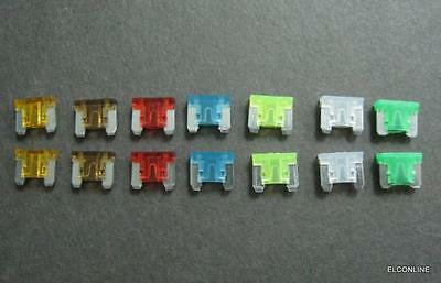 14 x Low-Profile Mini Blade FUSE Assortment: 5A 7.5A 10A 15A 20A 25A 30A #AUgtc