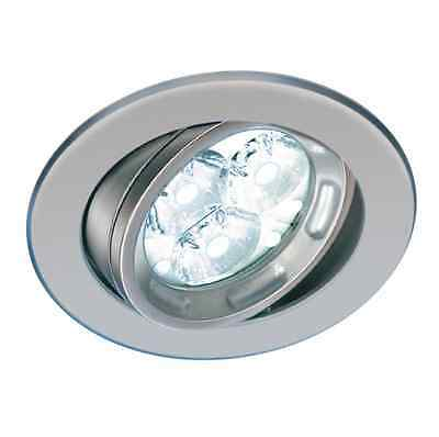 Faretto Led Faro Led Incasso Parete Led  Side Art.2827/Lbi/30 3X3W White Cromo