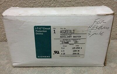 Ite Siemens A02Ee0L3 Auxiliary Switch For Ee, Eh, Ef, He Circuit Breakers