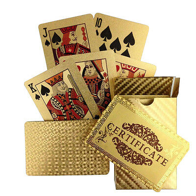24 Carat 99.9% Gold Plated Playing Cards