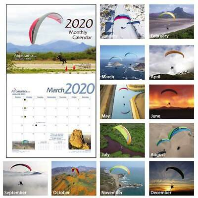2019 Wall Calendar Paramotor, Powered Paraglider PPG, Flight, Pilot, Aviation