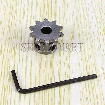 8mm Bore 10 Teeth 10T Metal Pilot Motor Gear Roller Chain Drive Sprocket