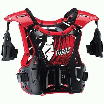 Thor New Mx Quadrant Black Red Roost Guard Chest Protector Motocross Body Armour