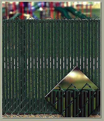 Privacy Fence Slats for 4 ft Chain Link Fence Weave Bottom Lock Green White+more